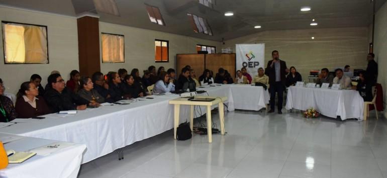 Santa Cruz: medios de comunicación y organizaciones políticas participan en la socialización de reglamentos para las Elecciones Generales