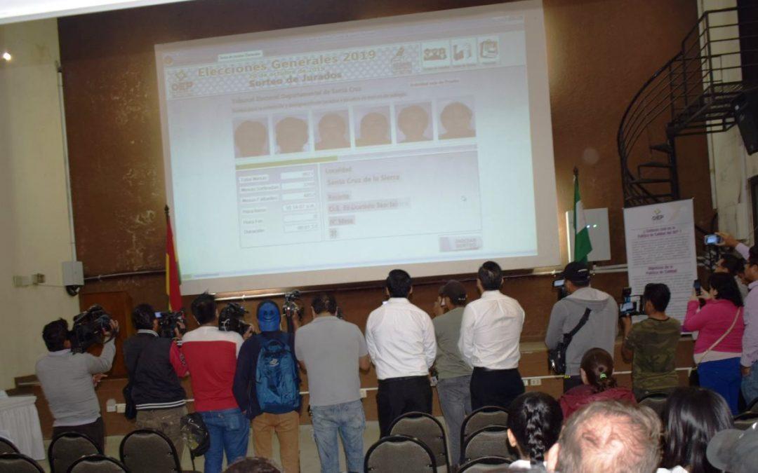 En Santa Cruz son 51.725 juradas y jurados seleccionados para las Elecciones Generales