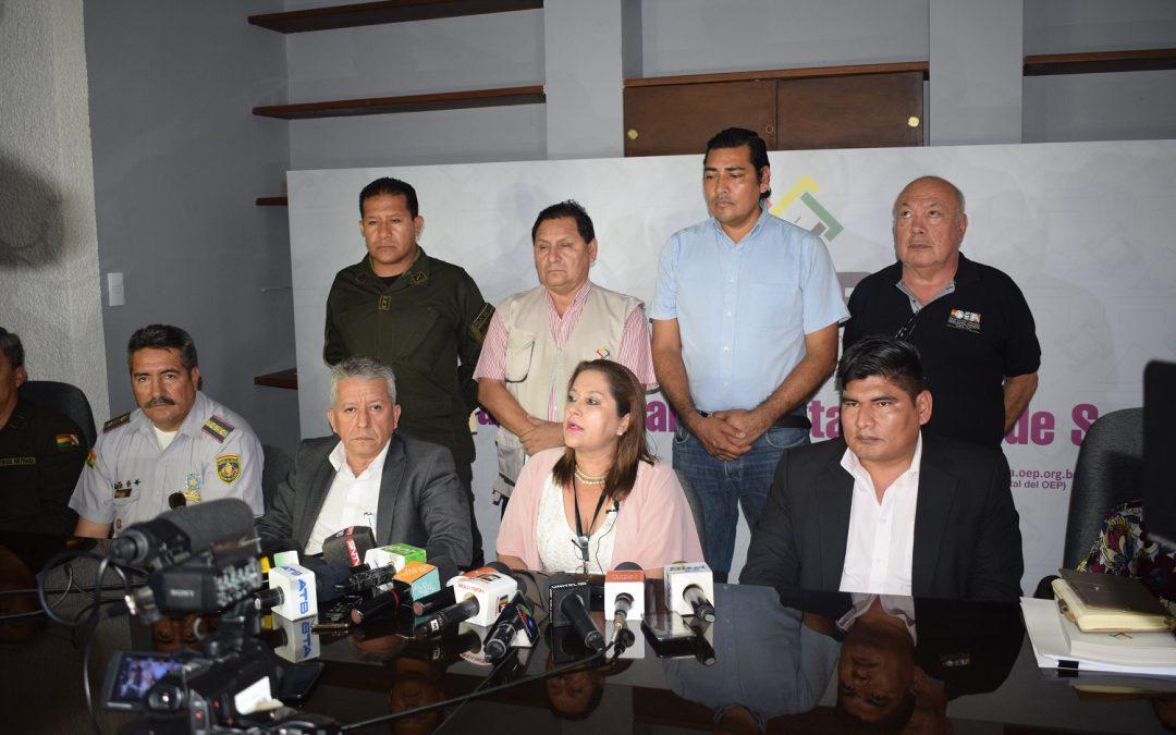 El TED de Santa Cruz tiene listo el plan de seguridad que desplegará en las Elecciones Generales