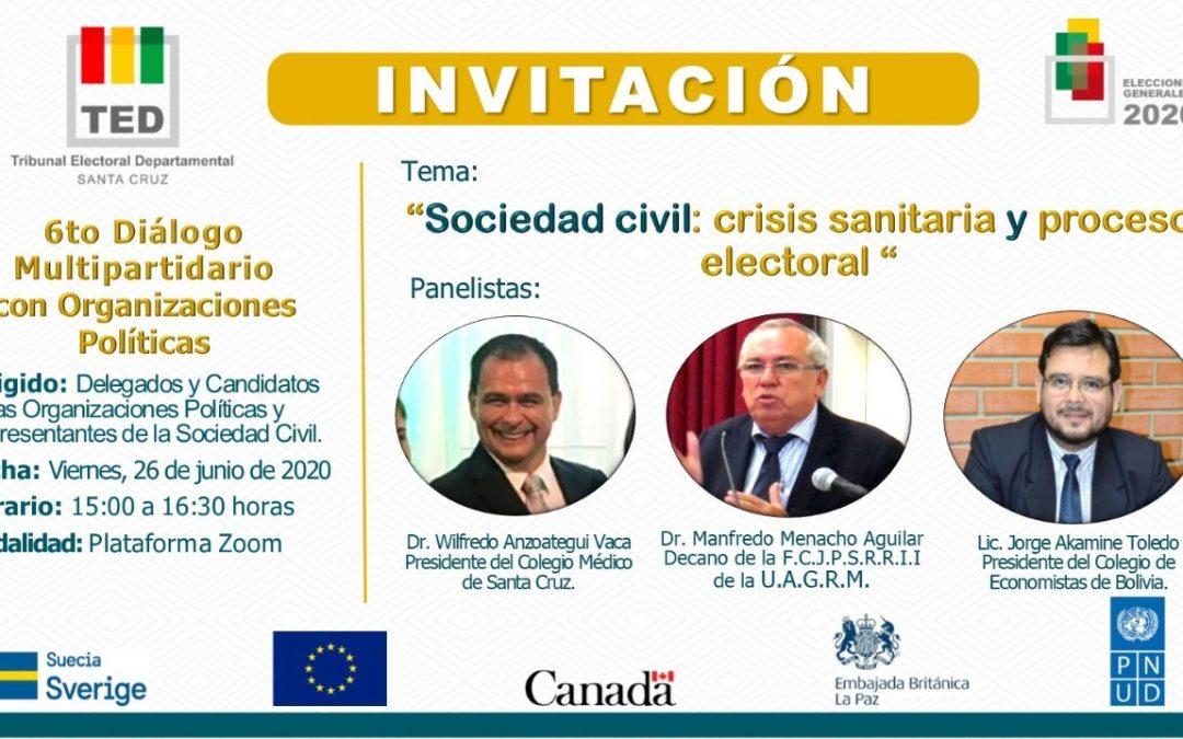 6to Diálogo Multipartidario con Organizaciones Políticas