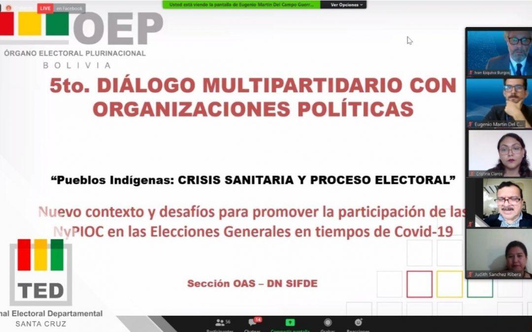 Los pueblos indígenas de Santa Cruz demandan mayor participación política en el Quinto Diálogo Multipartidario