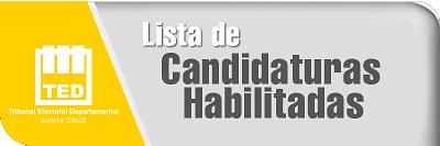 Candidaturas Habilitadas