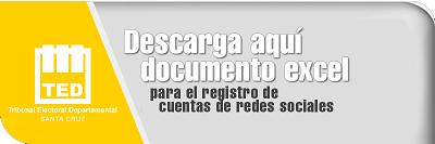 Formulario Registro RRSS EXCEL - Elecciones 2021