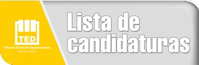 Lista Candidaturas