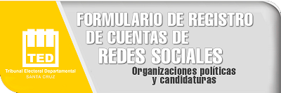 Registro RRSS - Elecciones 2021